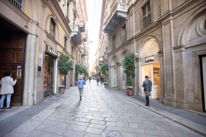Via della Spiga in milan