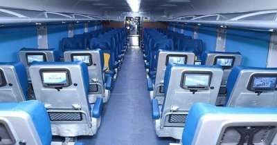 Inside view of a SMART coach of Tejas Express