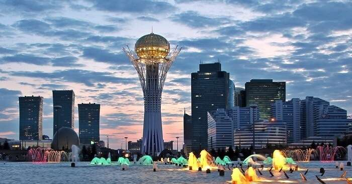 A cityscape of Astana in Kazakhstan