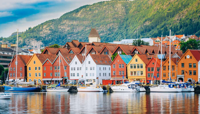 historical buildings in Bryggen