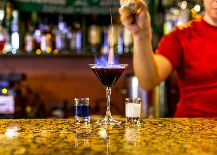 preparing drinks