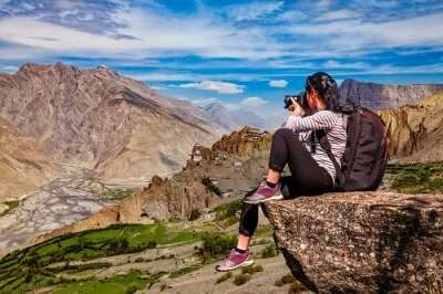 spiti girl photographer gompa