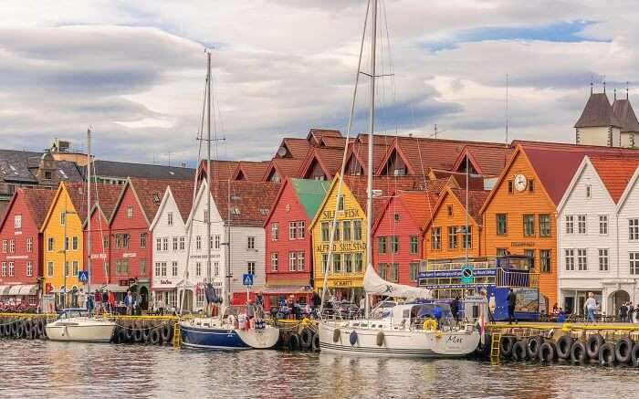 visit Colorful Bryggen Hanseatic Wharf norway