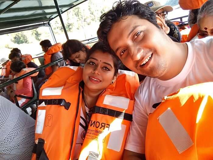 Couple boating in Kerala