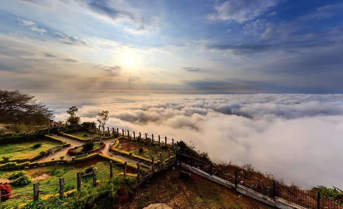 the ebautiful view form nandi hills