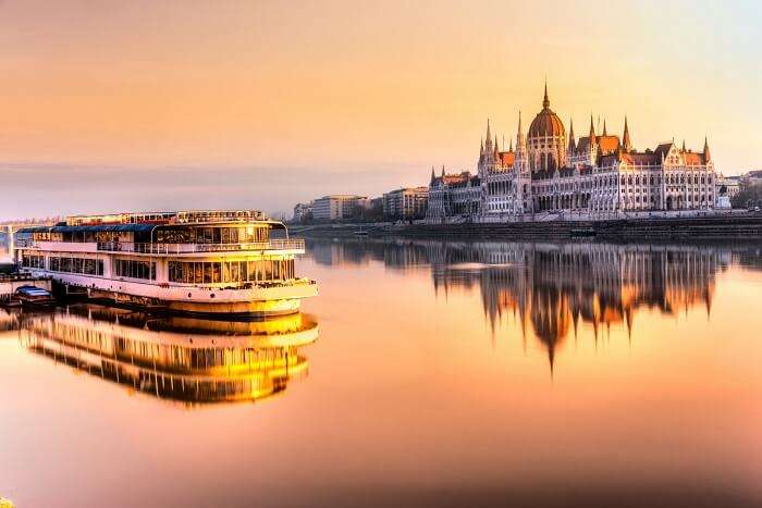 Cruise the Danube river in budapest Hungary