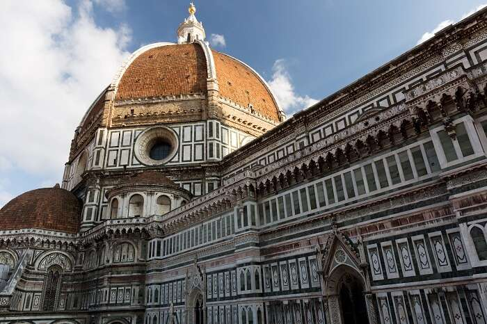 Outside of the Florence cathedral