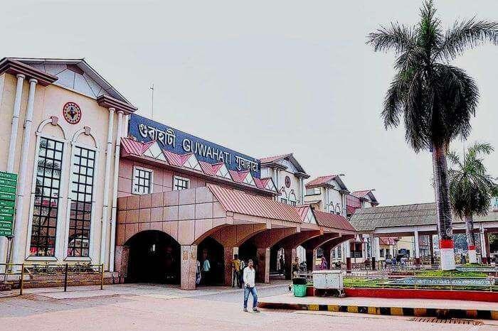 Entrance to Guwahati railway Station