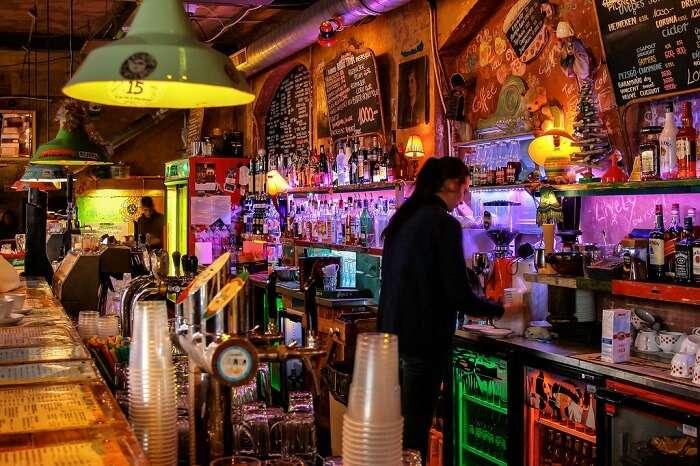 Grab a drink at a Budapest Ruin Bar