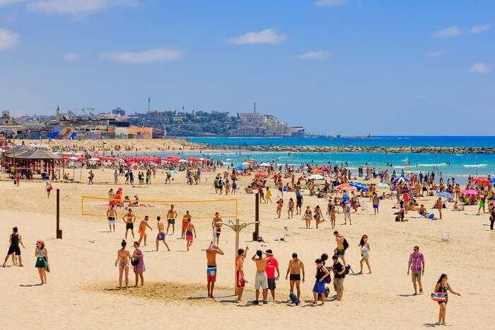 Head to the Tel Aviv Beach in israel