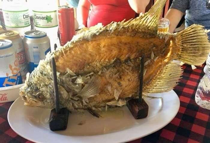 pallavi vietnam family trip: fish lunch