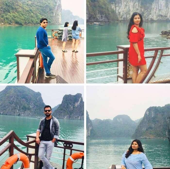 pallavi vietnam family trip: cruise collage