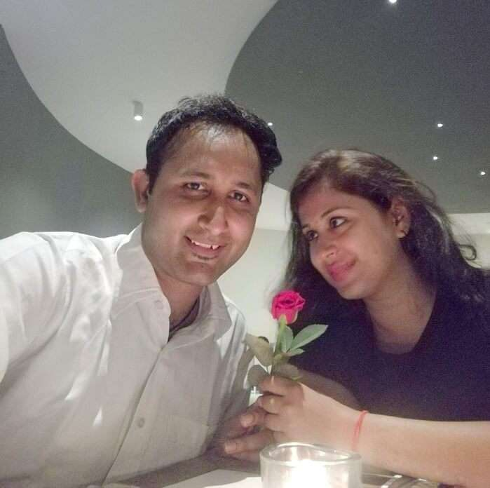 mayank and his wife in mauritius