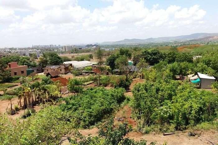 hills around the tourist destination