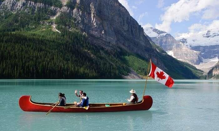 Boat Ride on Lake Louise