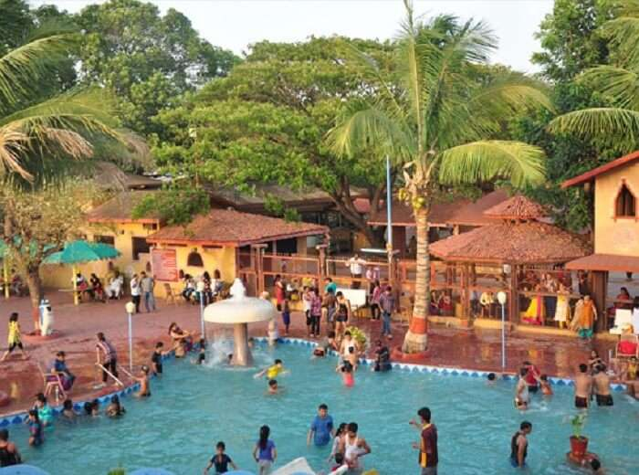 lively colorful water park