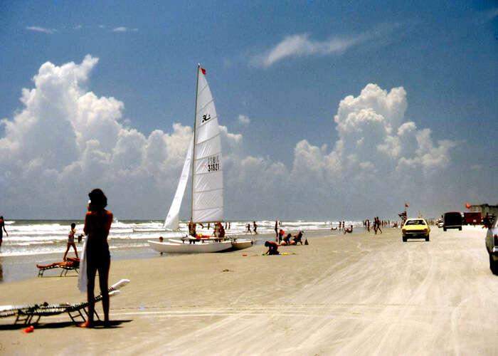 yachts on new Smyrna beach