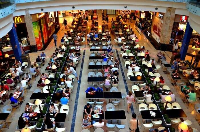 Shop and dine at the Central Market Hall in budapest Hungary