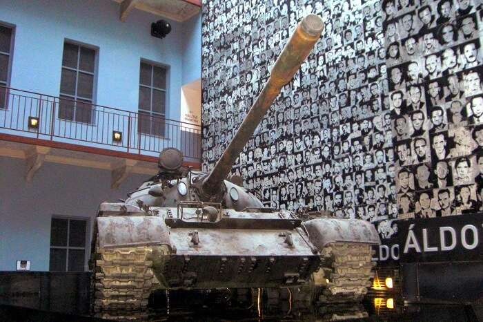 Visit an exhibition at The House of Terror in budapest Hungary