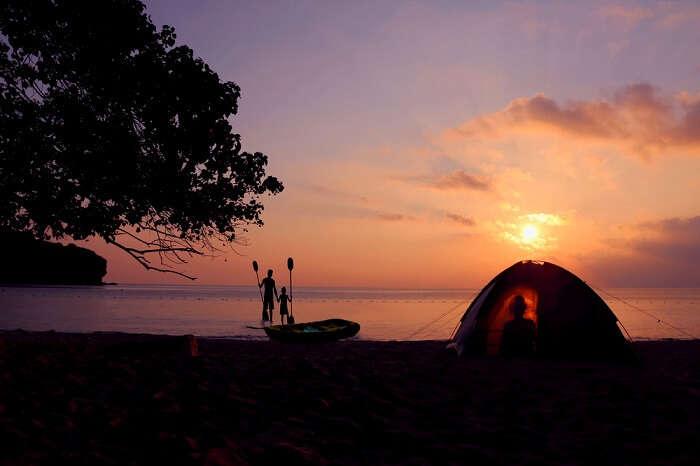 camping near beach in singapore