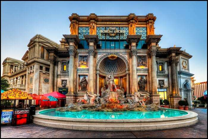 the famous hotel and casino and the city's most recognizable landmark