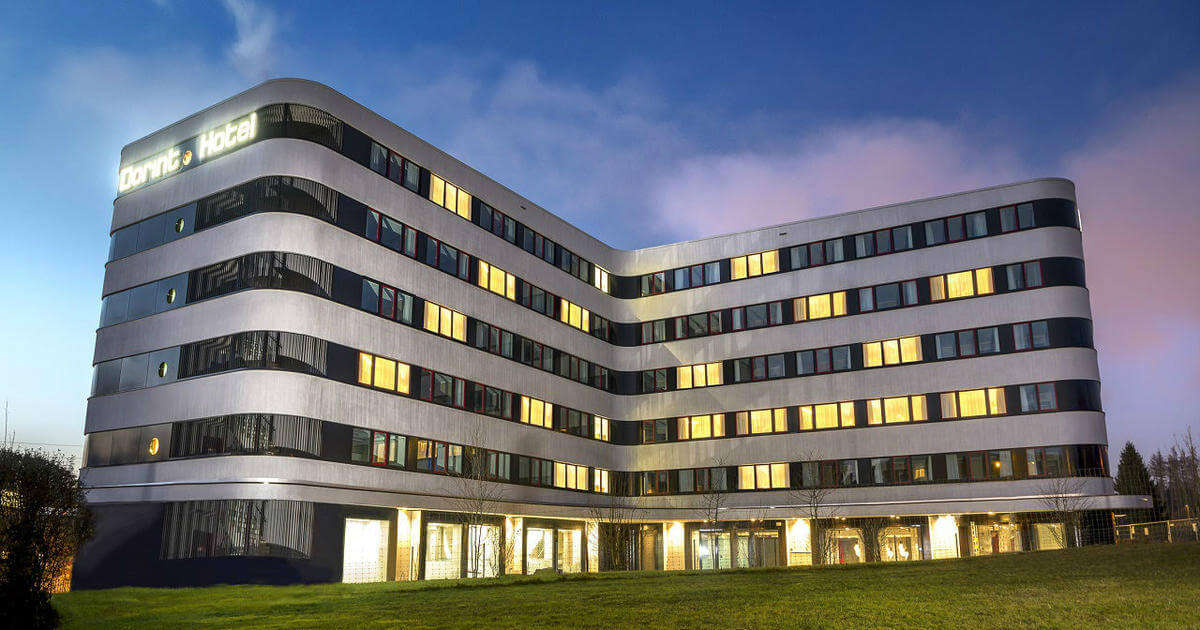 steel building of NH Zurich Airport