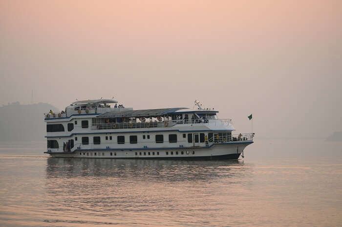 cruise on Brahmaputra river