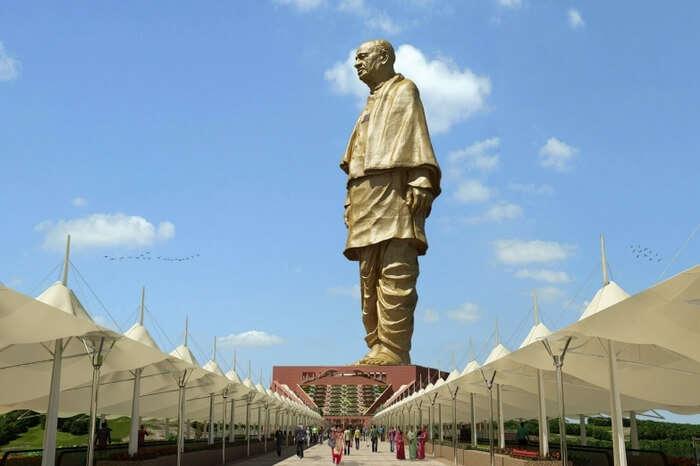 World's tallest statue in gujarat