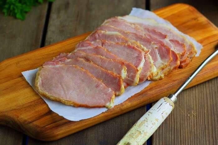 the peameal bacon in Canada