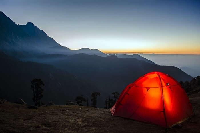 Enjoy camping at Chandratal