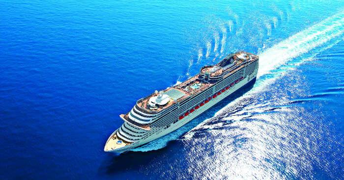 a ship cruising on sea