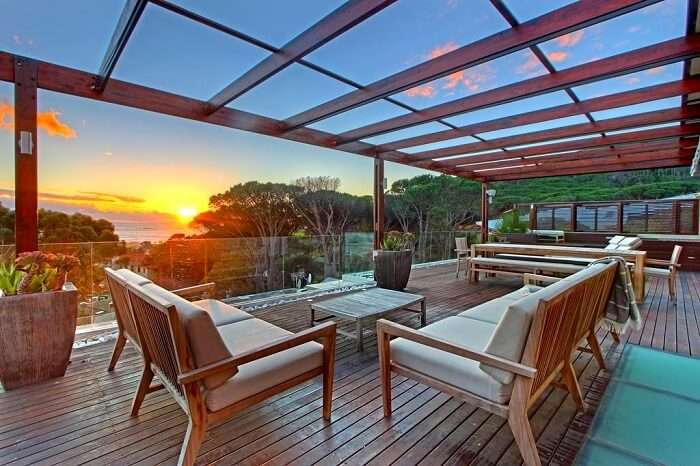 sunset view from Glen Sunsets Villa