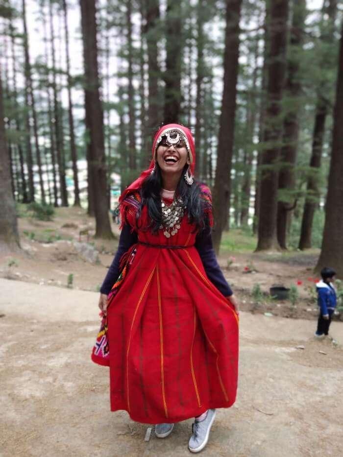 In Himachali dress