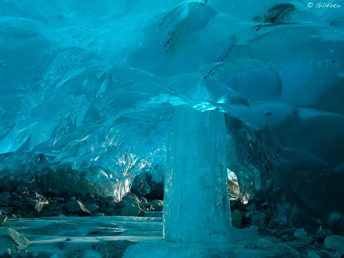inside ice caves