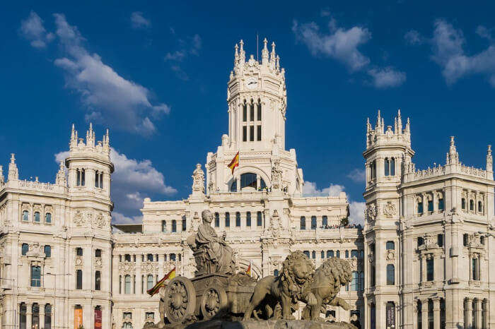 A popular building in Madrid of Spain