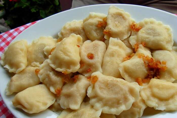 Sweet or savoury filling are stuffed inside