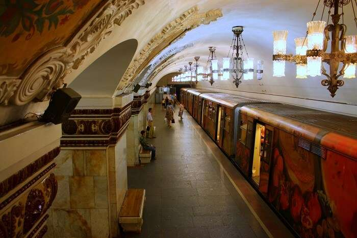 Ride in the Moscow Metro