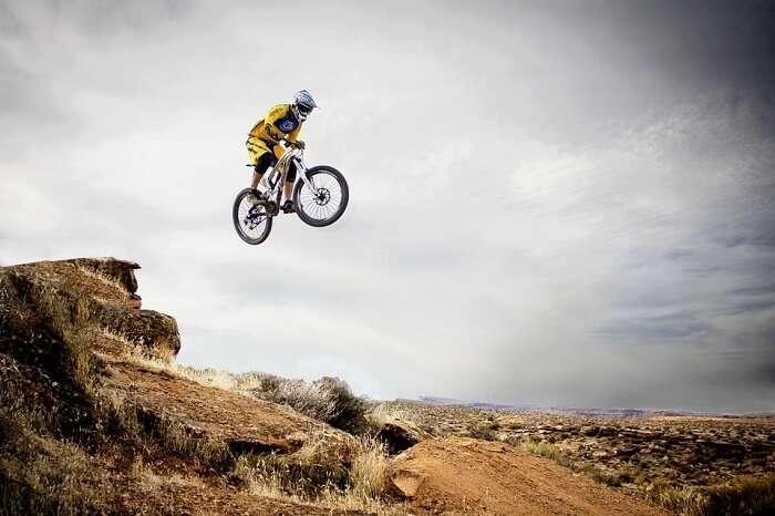 Mountain biking is one favourite sport nowdays