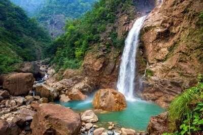 cherrapunji meghalaya waterfall