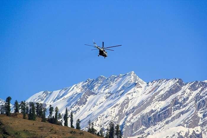 helicopter ride jammu himalayas