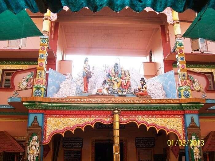 the shrine houses a unique standing posture of Ganpati