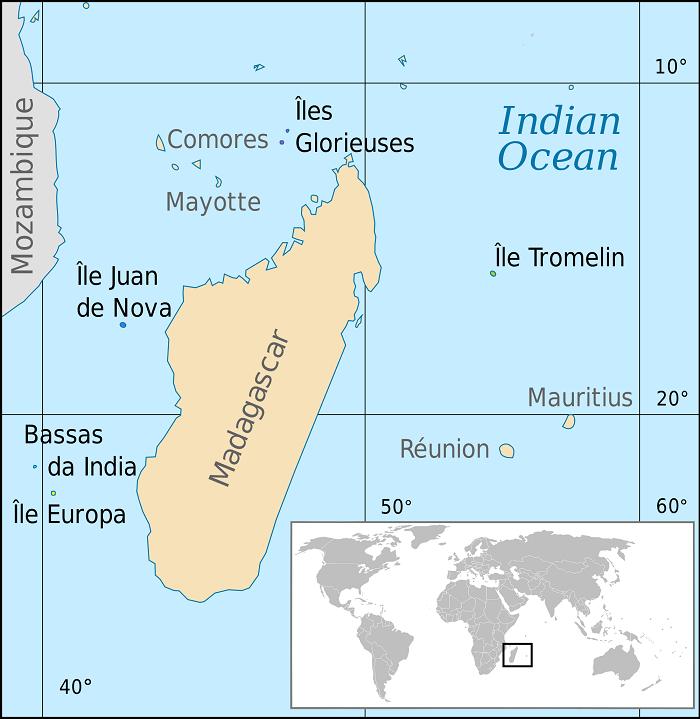 madagascar island map