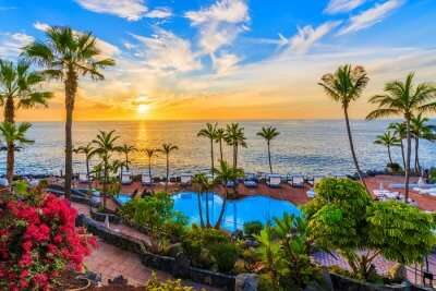 resorts in spain pool sea view cover