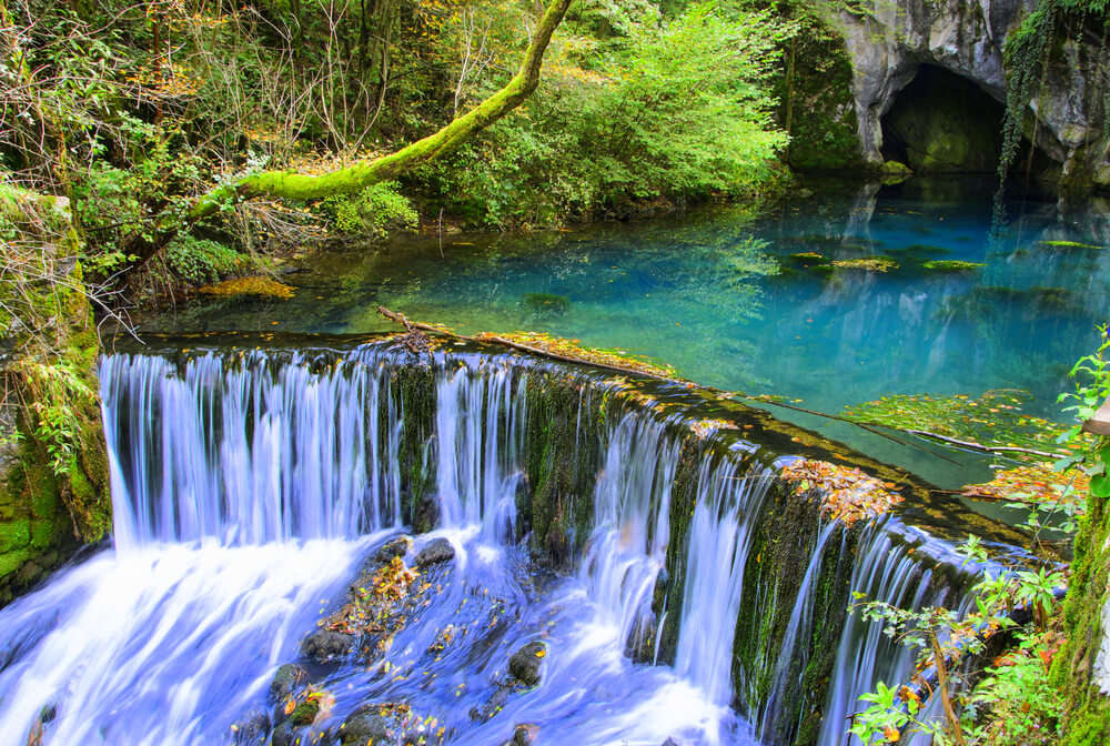 a gorgeous waterfall in Serbia