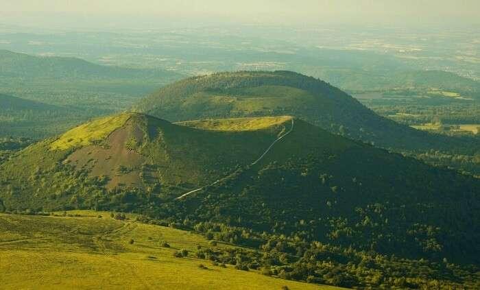 Green Volcano Peak in France