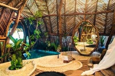 jungle villa in Azulik Eco Resort