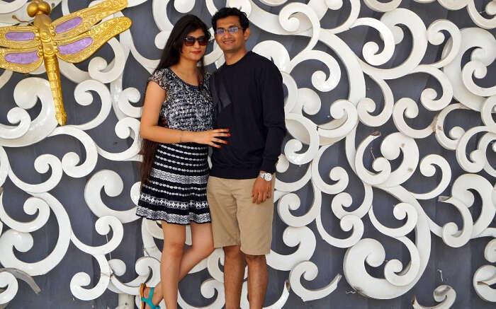 Honeymoon couple in Bali