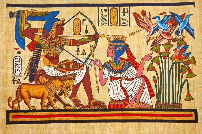 Buy papyrus in Giza
