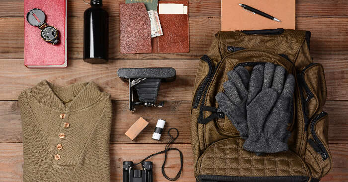 Things to be packed for a trip to a cold place