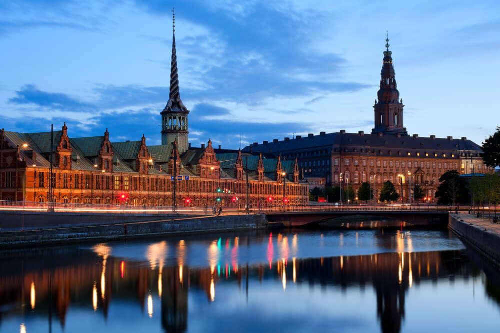 the gorgeous Christiansborg Palace